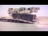 Crane Is Too Heavy For A Lorry Is Being Loaded On