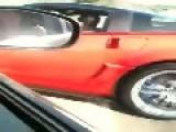 Corvette Driver Can't Merge