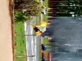 Car Burn And Total Explosion