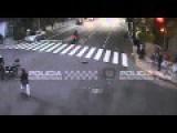 Car Hit By Biker Struck Pedestrian, Crashed Into Store In Argentina Un Accidente En Buenos Aires