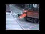 Couple Crash Into A Truck Are Launched Through The Windshield