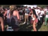 CHUNKY GIRL FIGHTS CROWD Of People = Falls Flat On Her AZZ =
