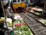 Congested Market On Train Track