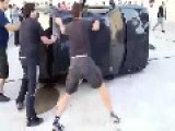 Cutting Cars In Half With An Axe Is A New Sport From Spain