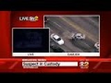 Car Chase Ends Badly, Scumbag Gets Shot!