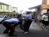Criminal Tries To Fight Off Police Trying To Arrest Him In Grenada