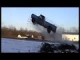 CRAZY, Big Air Truck Jump - Rednecks Roundup Uncut