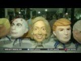 Companies Busying Making Trump And Hillary Masks For US
