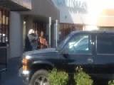 Cat Fight Outside South Sacramento Beauty Shop