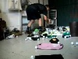 Creepy Dude Playing With Golf Balls In His Chaotic House
