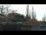 Column Of Military Equipment Of Rebel Goes To A Front
