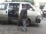 Crippled Man Uses Upper-body Strength To Enter A Vehicle Through The Window!
