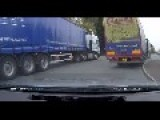 Crazy HGV Driver With Out A Care In The World