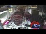 Caught On Camera: Man Knocks Out Bus Driver Because He Couldn't Pay His Fare!