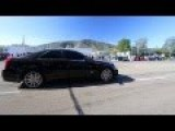 Cadillac CTS-V Does Burnout In Crowded Street