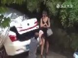Chinese Wife Humiliate Husband In The Street