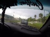 Crazy Dude Rams Car In Front Of Him For Brake Checking !