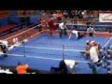 CRAZY ASSAULT! Croatian Young Fighter Vido Loncar KO'ed Referee At EURO 2014 Boxing Championship!