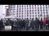 Crimean Tatars Clash With Pro-Russian GroupsUkraine: Russian Flag Hoisted Above Crimean Ra