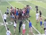 Cop Trips Fans Running Onto Soccer Field To Celebrate