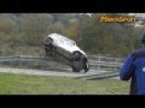 Crashes And Action On Rally Event. Big Fun