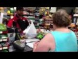 Crazy, Rude, And Racist Woman At Tedeschi Convenience Store In Boston