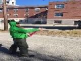 Confetti Cannon Blasts Upside Down