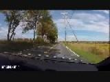 Car Goes Flying On Back Road