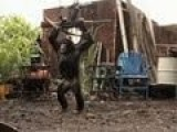 Chimpanzee With AK47 Live Fire Training Video