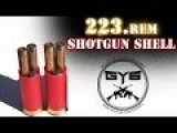 Custom Shotgun Shell -vs.- Ballistic Gel #4--- 223. Brass