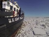 Coast Guard Cutter Chock Icebreaking In The Chesapeake Bay