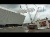 Crane Collapses In Soccer Stadium - Brazil
