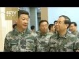 Chinese President In Combat Fatigues Gives Orders At Command Headquarters