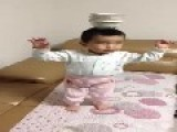 Chinese Toddler With Amazing Balance Skills