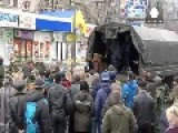 Captured Ukraine Troops Forced To Face Angry Crowd After Donetsk Bus Stop Shelling