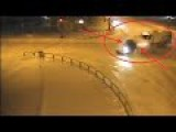 Car Crash: Car Fiery Crash With A Snow Plough