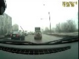 Car From Oncoming Traffic Spins Into Dash Cam Vehicle