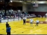 Crowd Goes Wild As BLIND Man Makes 3-point Shot At College Basketball Halftime...winning A Year's Supply Of McDonald's