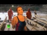 Chilling Video: Sexy RT's Correspondent Plunges Into Icy Waters On Epiphany