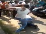 Crazy Indian Chick Beats Up Boyfriend On The Streets Of Delhi, India