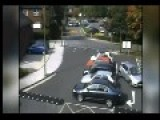 CCTV Dozy Driver Smashes Into TWO PARKED Cars You May Want To Turn The Volume Up
