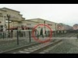CCTV: Train Near-miss: Man Runs In Front Of Train