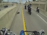 Crazy Streetbike Wreck Sends Both Riders Flying