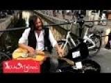 Crazy Good Blues Slide Guitar Street Musician