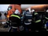Car Crash Rescue Video From Ukraine