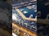 Carnival Vista Cruise Ship Destroys Marina While Leaving Messina