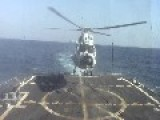 Chinese Harbin Z-9E Helicopter Landing On USS Sterett DDG-104