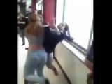 Chic Pisses Pants In Cat Fight