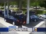 Car Slams Into Gas Pump Driver Barely Saved Before Huge Explosion