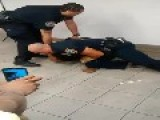 Cops Take Dude Down At Train Station